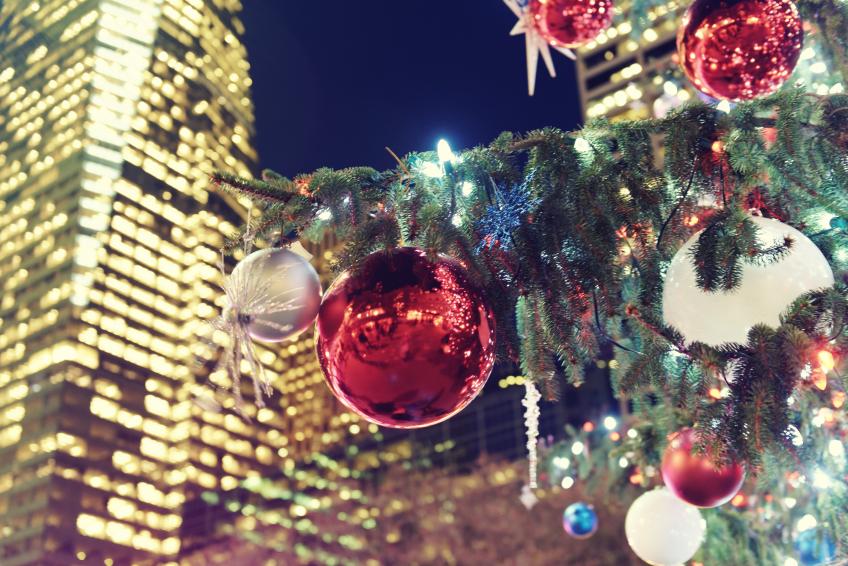 Christmas tree decorating the city of New York