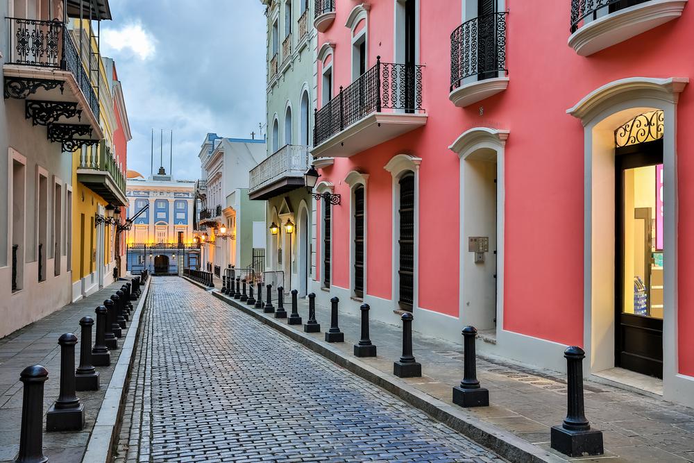 Pink Spanish architecture