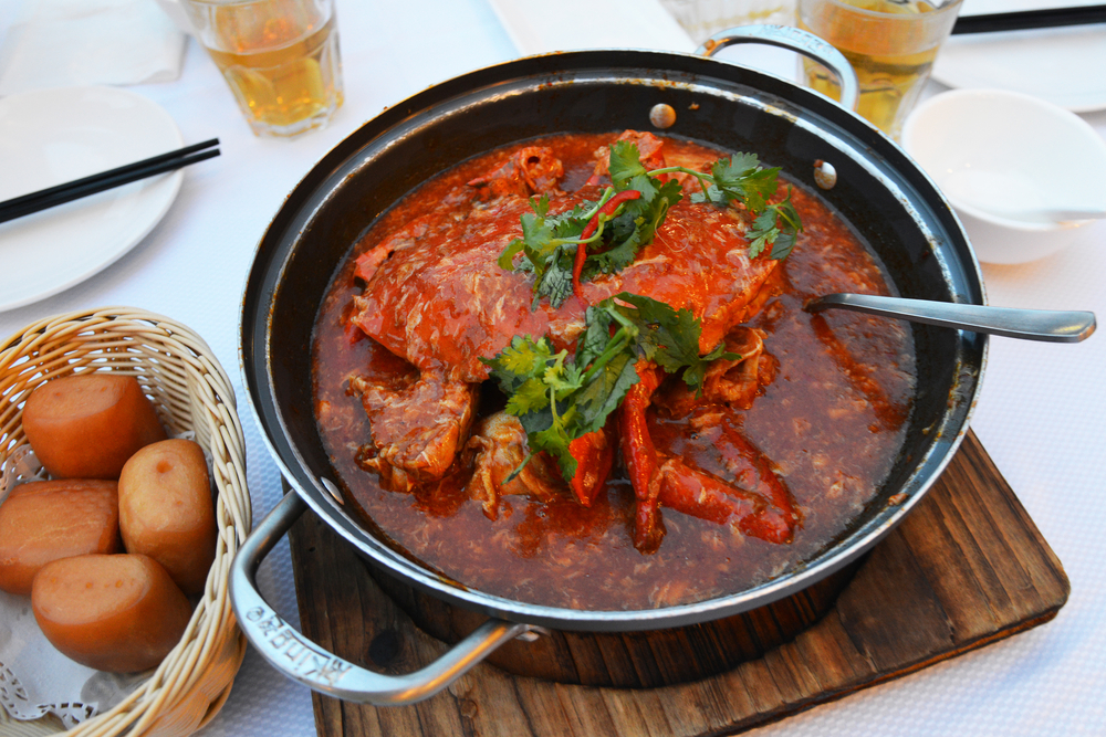 Chilli crab in Singapore