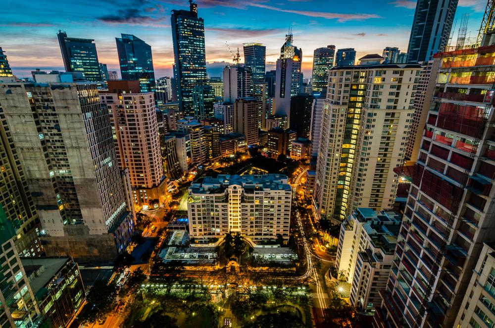 Makati City, Manila at night