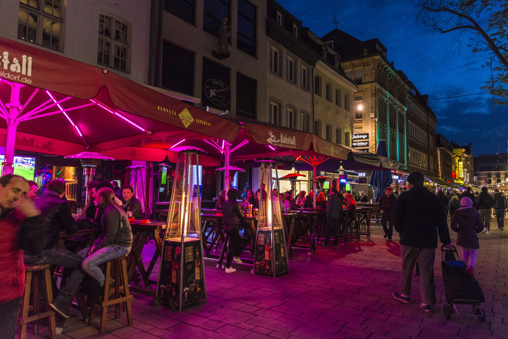 Longest bar in Altstadt, Dusseldorf, Germany
