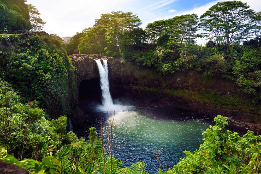 Waianuenue Falls, Big Island, Hawaii