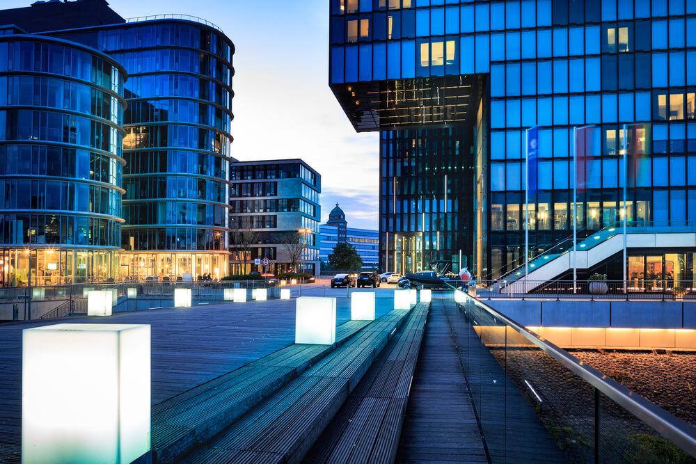 City buildings in Dusseldorf, Germany