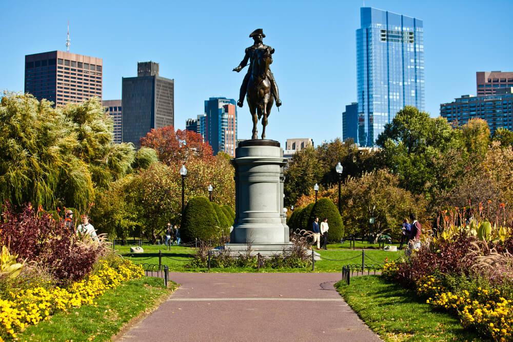 George Washington monument in Boston Public Garden
