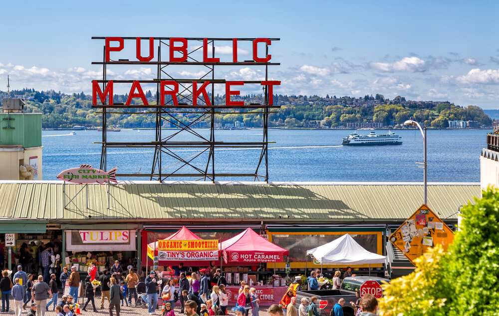 Pike Place Market in Seattle, USA
