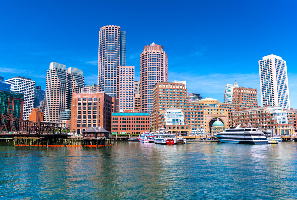Boston city and the river