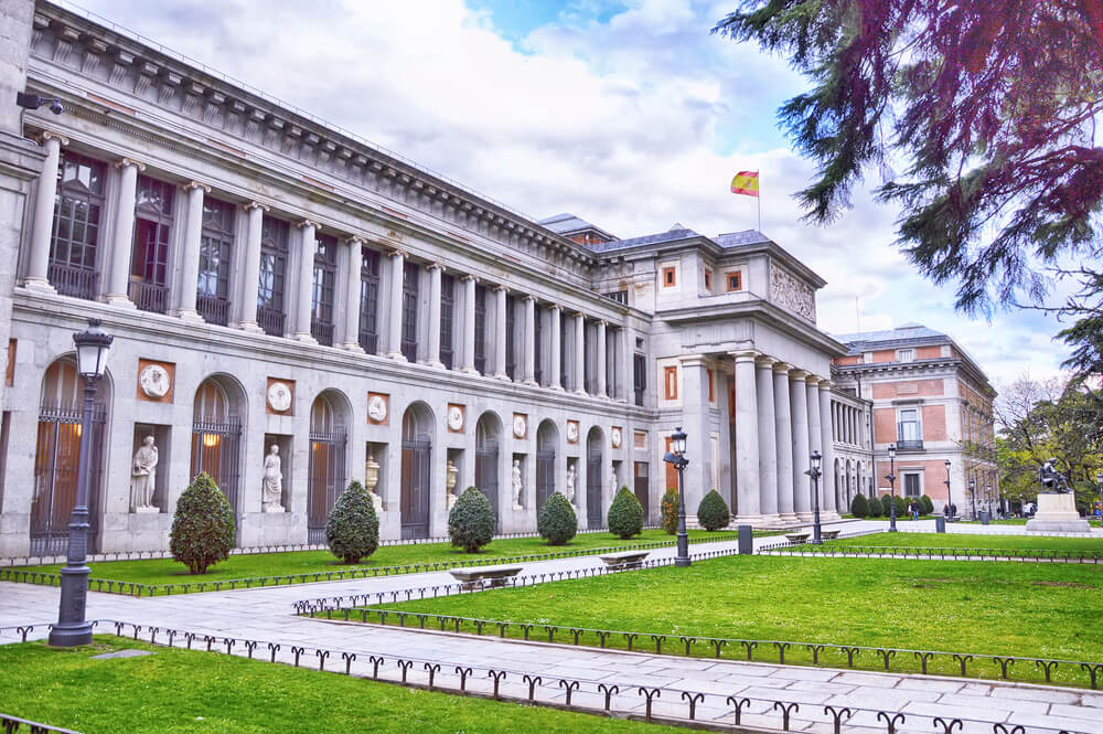 Exterior of Museo Del Prado in Madrid, Spain