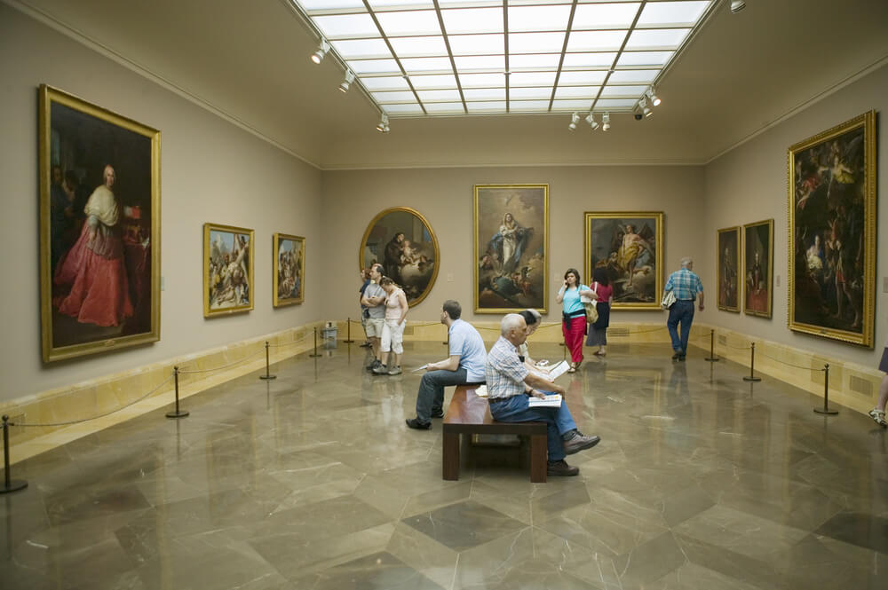 Inside the Museo del Prado in Madrid, Spain